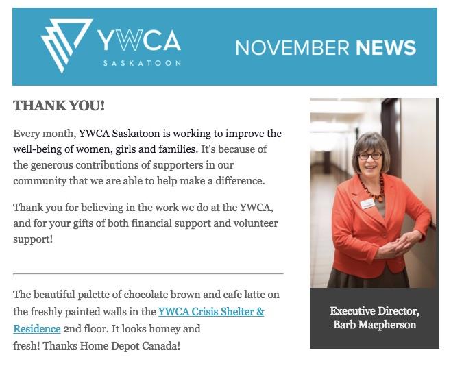 YWCA November News